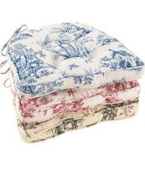 lenoxdale toile corded chair cushion red
