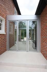 aluminium bi fold doors in glass link projects hedgehog aluminium systems
