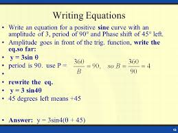 13 writing equations