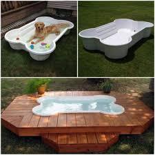 dog bone swimming pool and deck