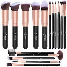 amazon bestope makeup brushes 16 pcs makeup brush set premium synthetic foundation brush blending face powder blush concealers eye shadows make up