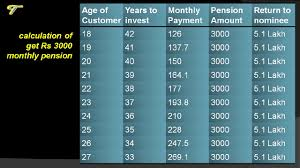 Atal Pension Yojana Age Chart Atal Pension Yojana Details Of The Scheme With Chart And Calculation Hindi