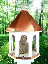 copper bird house feeder roof top houses for gazebo birdhouse portal pr woodlink feeders