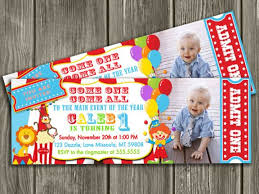 Circus Party Invitation Simple Printable Circus Ticket Birthday Photo Invitation Carnival Invite