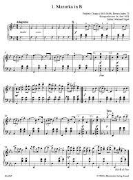 chopin spring waltz sheet music chopin f easy piano pieces and dances presto sheet music