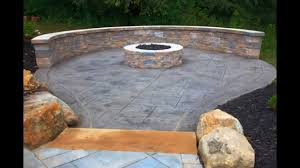 Concrete patio designs with fire pit Two Level Creative Stamped Concrete Patio Design Youtube Creative Stamped Concrete Patio Design Youtube