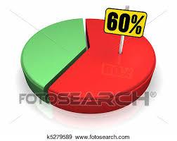 60 Pie Chart Pie Chart 60 Percent Stock Illustration K5279589 Fotosearch