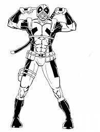 Have you learned who this superhero is? Deadpool 82837 Superheroes Printable Coloring Pages