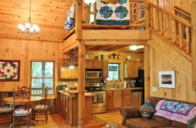 Log Cabin Living Room Delectable NC Cabin Natural Wooded Setting