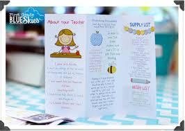 Teacher Brochure Example Custom Classroom Brochure For Open House Giveaway First Grade