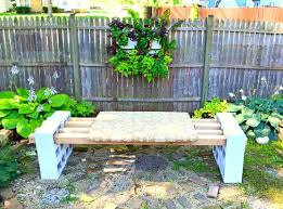 Concrete Block Planters Make A Bench With No Tools Supplies Needed Cement  Blocks 4 Architectures Concrete