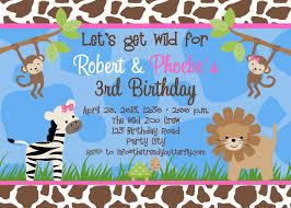 Photo Birthday Invitations Jungle 1st Birthday Party Monkey Invitation