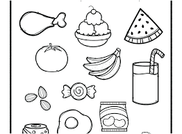 Healthy Food Coloring Pages Justgetlinkinfo