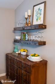Floating Shelves In Dining Room Cool DIY Dining Room Floating Shelves Shelterness 53