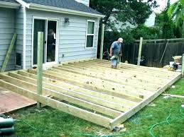 ground level deck plans free standing deck framing free standing deck framing ground level deck plans