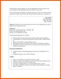 Front Desk Resume Front Desk Supervisor Resume Resume Samples