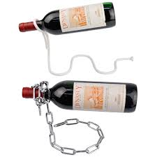 new magic illusion floating wine bottle holder rope lasso chain wine racks