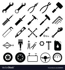 auto mechanic tools. Delighful Mechanic Auto Mechanic Tools Set Vector Image Inside D