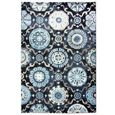 carpet art deco bazaar medallion navy 5 ft x 7 ft area rug rgar062463 the home depot