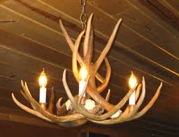 501 the 4 light mule deer pinecone antler chandelier great for smaller rooms tables and