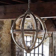 large orb chandelier. Large Round Wooden Orb Chandelier