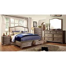rustic gray bedroom set. Beautiful Set Furniture Of America Minka IV Rustic Grey 4Piece Bedroom Set King And Gray