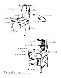 dining room chair parts