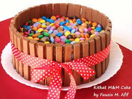 kitkat m m cake