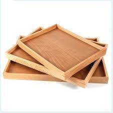 wooden serving trays mountain woods octagon ottoman