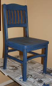 chair for fundraiser stained blue