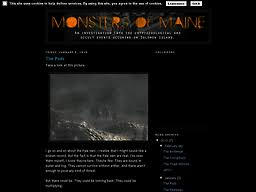 screenshot of monstersofmaine spot 2010 01 01 archive html