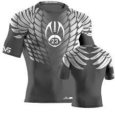 Compression Style Wear Football Design Custom Hawk Flag - Rugby Jersey Football Jerseys Charcoal