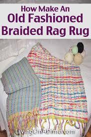 make old fasioned braided rag rug jpg