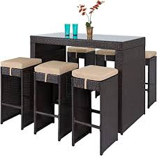 Best Choice Products 7-Piece Outdoor Rattan Wicker ... - Amazon.com