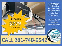 garage door opener installation cypress tx call 281 748 9542 residential garage door repair service specializing in chamberlain garage door opener