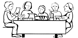 dinner table clipart black and white. lovable dining room table clipart black and white with dinner