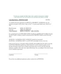 Rent Notice Letter Sample Example Of Lease Agreement Letter End Of Lease Notice Letter To
