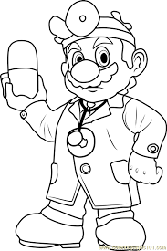Small Picture Dr Mario Coloring Page Free Super Mario Coloring Pages