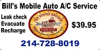 bill s mobile auto ac service auto