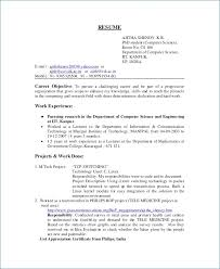 Engineering Graduate Resume Gorgeous Sample Resume Objective For Computer Science Graduate Awesome