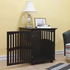 table dog crate. kirkland buddy residence pet crate end table dog