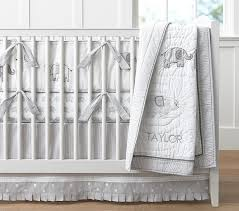 taylor elephant baby bedding pottery barn kids boy nursery bedding with gray crib