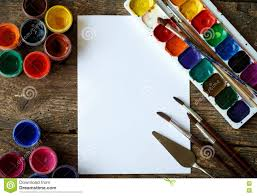 paint brush background. Beautiful Brush Paper Watercolors And Paint Brush On Wooden Background On Paint Brush Background N
