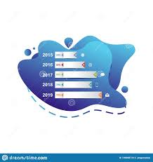 Liquid Chart Bar Chart Graph Statistical Business Infographic In Gradient