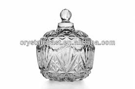 Decorative Glass Jars Wholesale Wholesale Cheap Fancy Clear Christmas Decorative Cookie Sugar Bowl 4