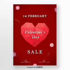 Simple Red Valentines Day Promotion Poster Template Template For