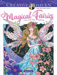 Amazoncom Adult Coloring Book Creative Haven Magical Fairies