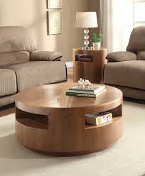 round coffee table set natural walnut he c3429 01 aquinnan