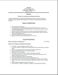 hvac technician resume objective free edit with word