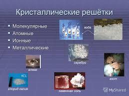 Презентация на тему Кристаллические решётки Курсовая работа  3 Кристаллические решётки Молекулярные